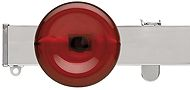 Silent Gliss Metroflat 36mm, 6100 Curtain Track, Chrome, Discus Midial Red