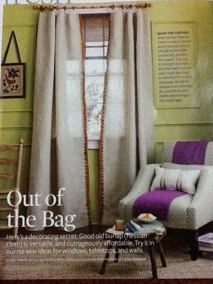Burlap curtains with trimming: Ideas, Living Rooms, Blank Wall, Color, Chairs, Monochromatic Moldings, Master Bedrooms, Burlap Curtains, Window Treatments