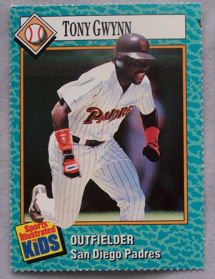 1989 #sports illustrated for kids tony gwynn san diego padres baseball card from $2.0