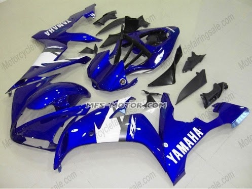YAMAHA R1 2004-2006 Injection ABS Fairing - Blue/White  http://www.motorcyclefairingsale.com/yamaha-yzf-r1-2004-2006-injection-abs-fairing-others-blue-white.html