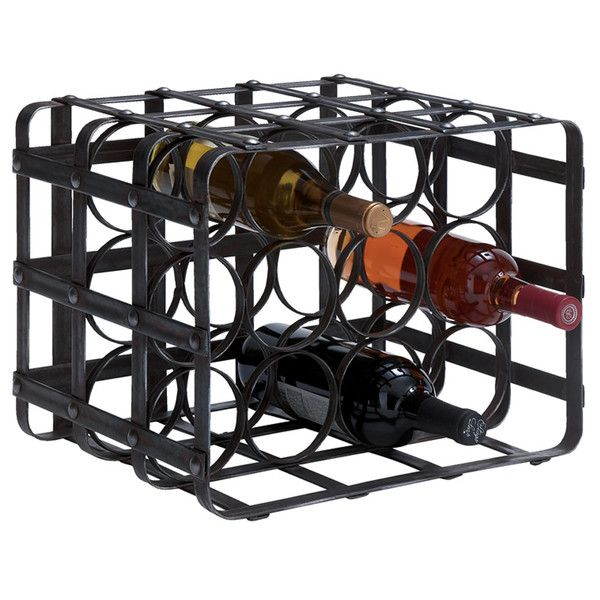 Woodcock 12-Bottle Tabletop Wine Rack
