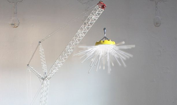 A Former LEGO Concept Designer's Crane-Shaped Lamp Takes Stylish Lighting to New HeightsResidential Lights, Cranes Shapped Lamps, Construction Lights, High Lights, Designer'S Cranes Shapped, Cranes Lights, Crawler Cranes, Stylish Lights, Cranes Lamps