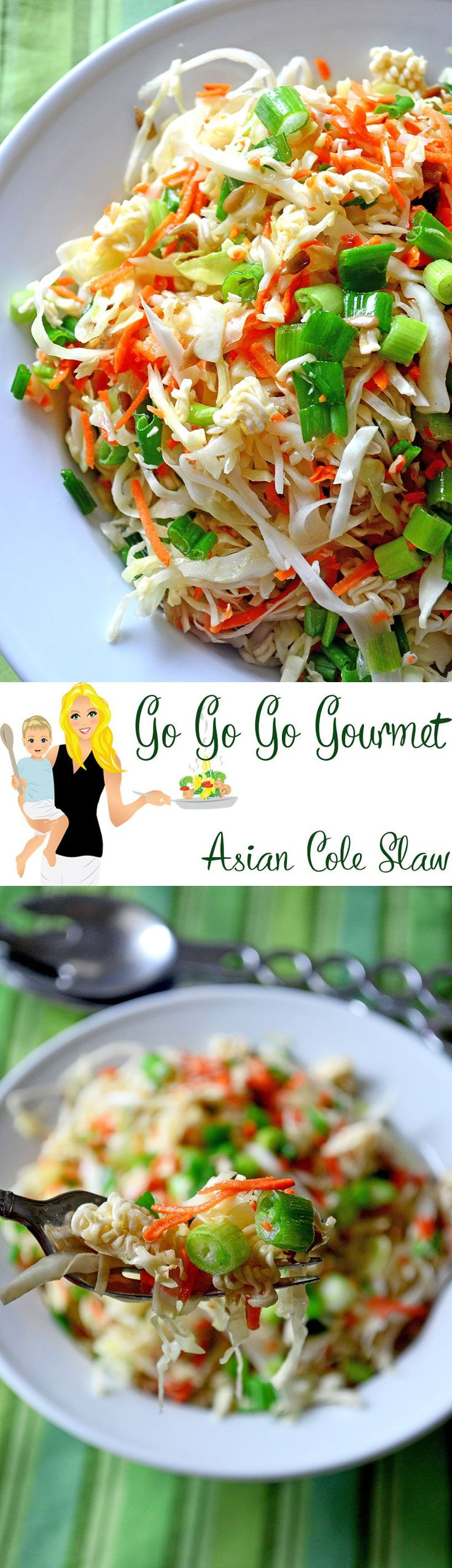 Light, crisp and delicious Asian coleslaw!