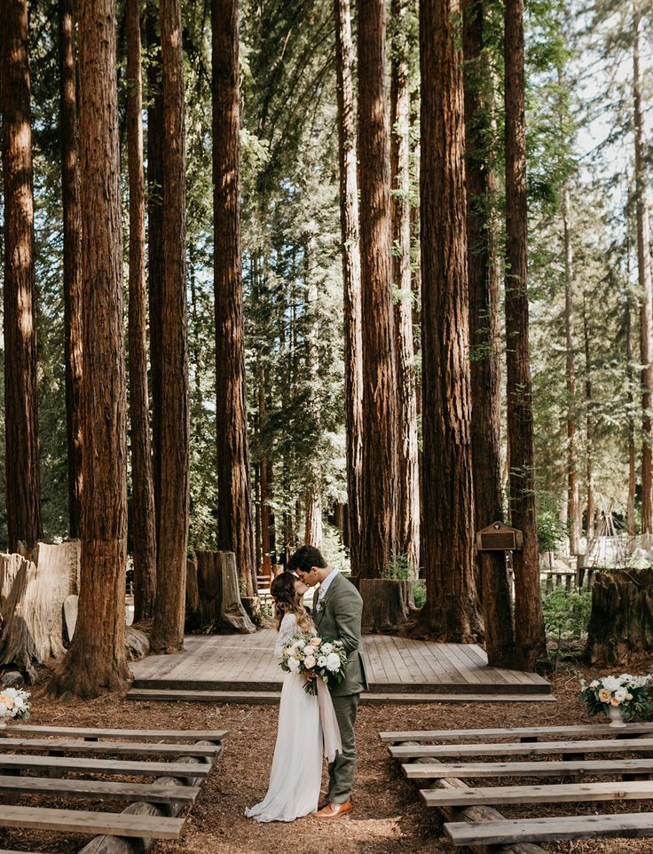 beautiful wedding places in northern california%0A One Long Adventure  A Rustic Wedding in the Redwoods with a Copper   Peach  Palette