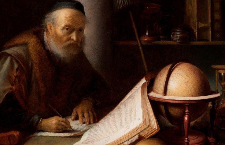 Λεπτομέρεια  από: Μελετητής διακόπτει την γραφή του (1635) Ιδιωτική συλλογή Λέιτον από την Νέα Υόρκη