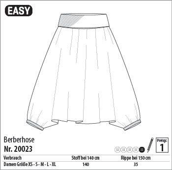 Schnitt für Aladin-Hose/Berberhose