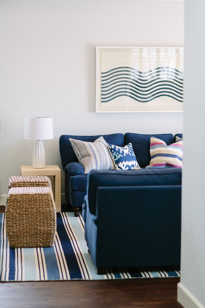House Of Turquoise Rita Chan Interiors Navy SofaNavy Blue CouchesHome Living RoomLiving