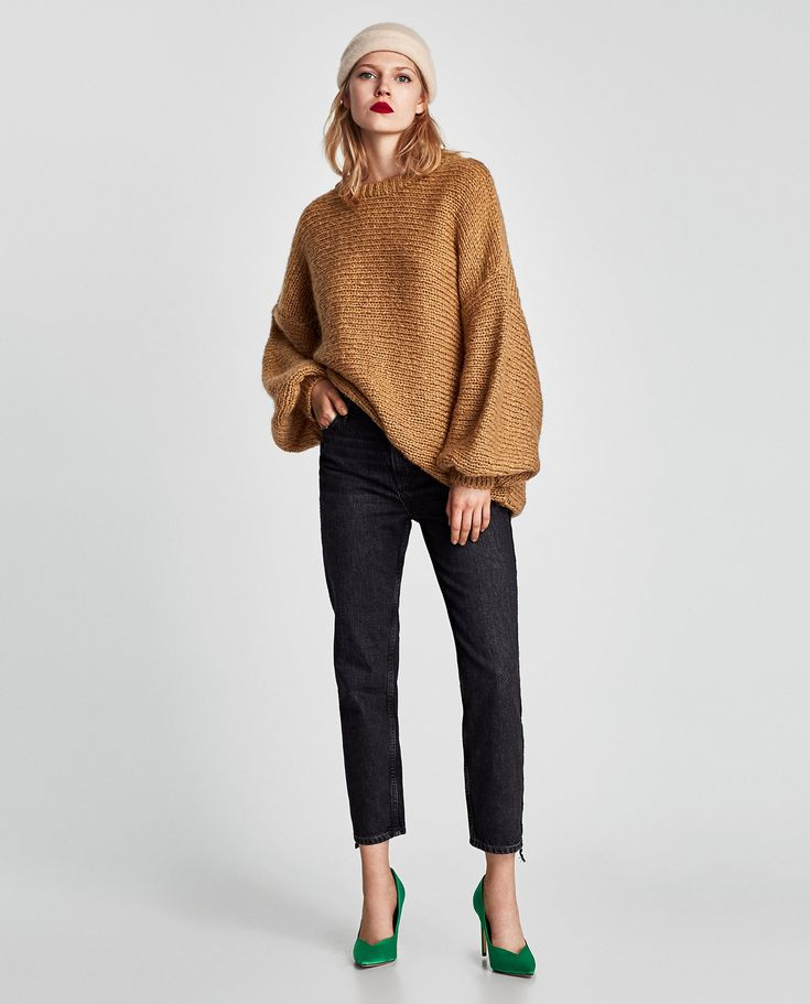 ZARA - WOMAN - STRAIGHT JEANS WITH VELVET BAND