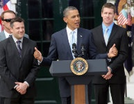 Tony Stewart & Carl Edwards @ the White House... Best Chase Ever!!