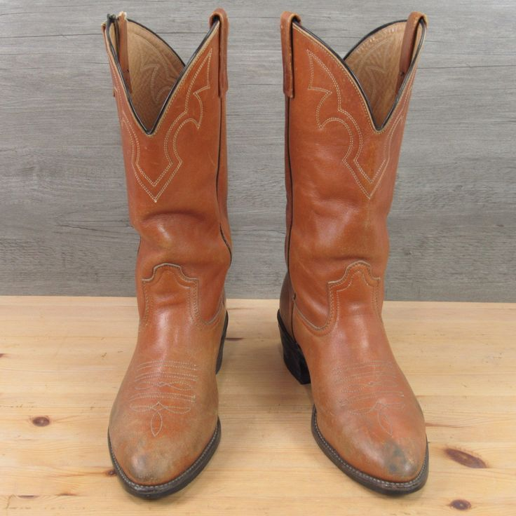 Vintage Red Wing Pecos Cowboy Leather Western Biker Work Boots Men's 9 3E