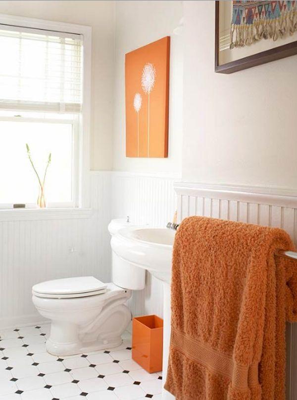 20 Fresh Orange Bathroom Ideas