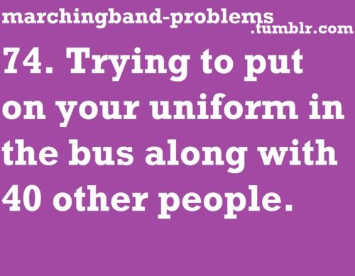 Marching band problems They try to make it better with the girls going first...but it never works out perfectly