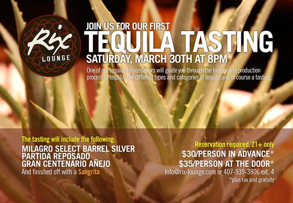 Tequila Tasting at Rix Lounge in Disney World!
