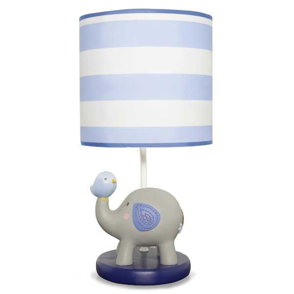 jungle doodle elephant and bird nursery boys baby lamp base shade by. Black Bedroom Furniture Sets. Home Design Ideas