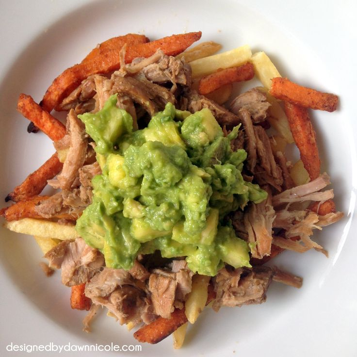 Slow-Cooker Chipotle Pork Carnitas with Pineapple Guacamole