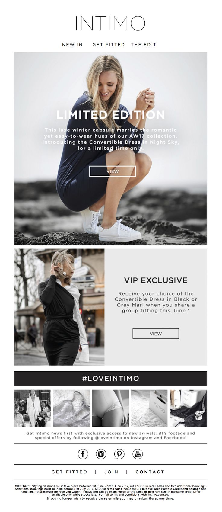 """Intimo Lingerie: Intimo VIP Email """"Limited Edition"""" Introducing the Convertible Dress in Night Sky. www.intimo.com.au"""