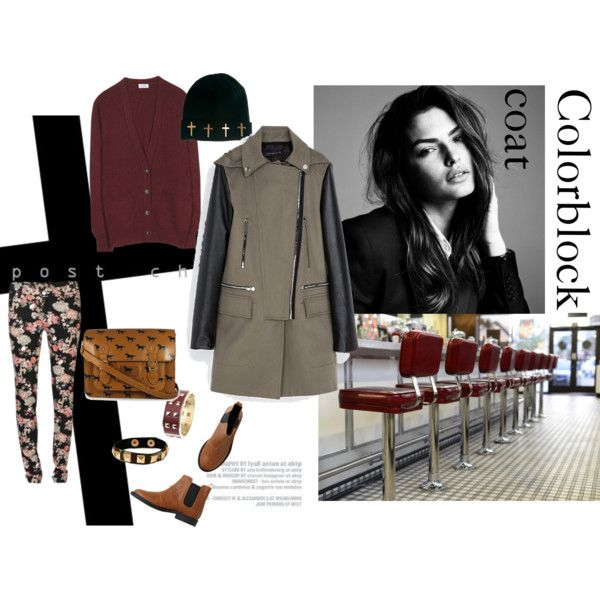 """Colorblock Coat"" by peackapples on Polyvore"