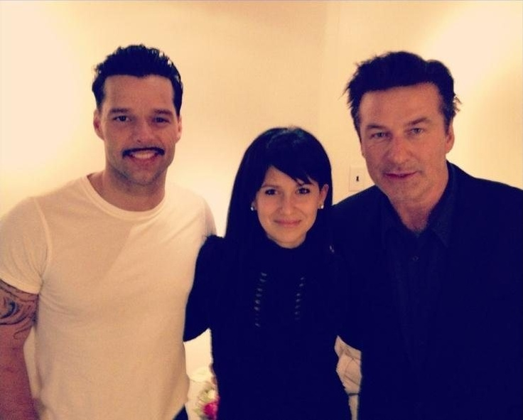 Ricky Martin and Alec Baldwin with his wife