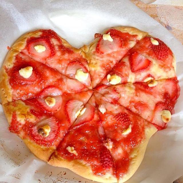 自宅でのペットボトルピザ教室で、参加者の作品ですよ! - 9件のもぐもぐ - あまおうピザ by kazuhikosaVhn