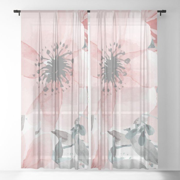 Long Window Curtains Farmhouse Chic Sheer And Blackout Curtains Gray And Coral Floral Print Curtains Long Window Curtains Blackout Curtains