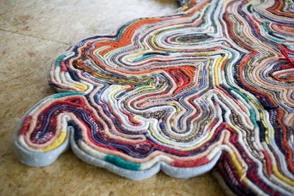 Rug - Tejo Remy (made of old wool rugs folded and sewn together for comfort).