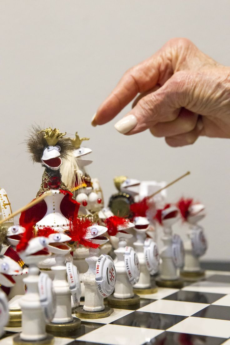 Making Pistachio Shell Tableaus Such As This Chess Set Is One Of Her  Preferred Creative Outlets.