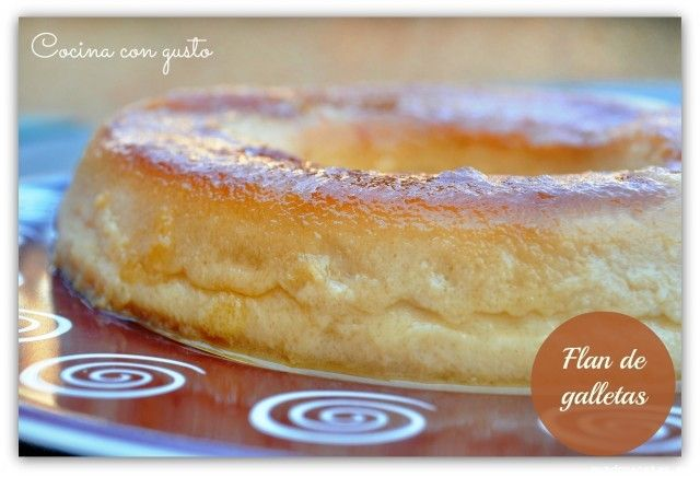 Flan de galletas en olla express - MundoRecetas.com