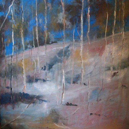 Summer's day Sutton Grange VIC Australia - oil paint on boxed canvas