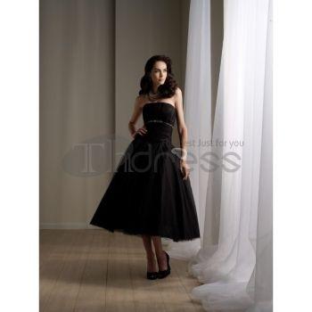 Abiti da Sposa Corti-Tulle bianco increspato abiti senza spalline bustier da sposa