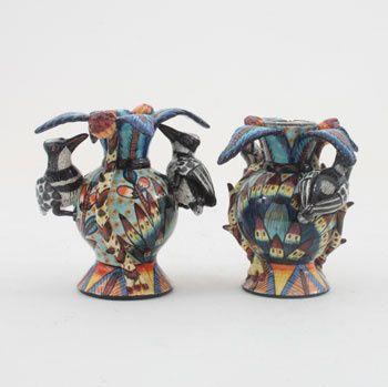 Ardmore Ceramics: Bird Candlesticks Pair