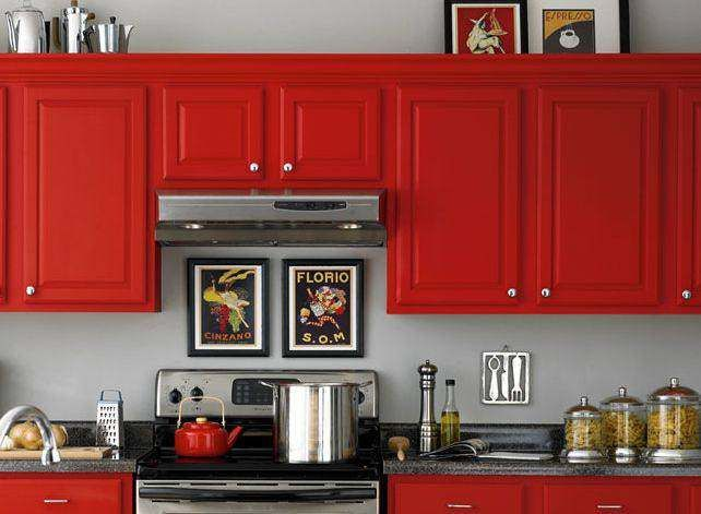 17 Best ideas about Red Kitchen Cabinets on Pinterest | Red ...