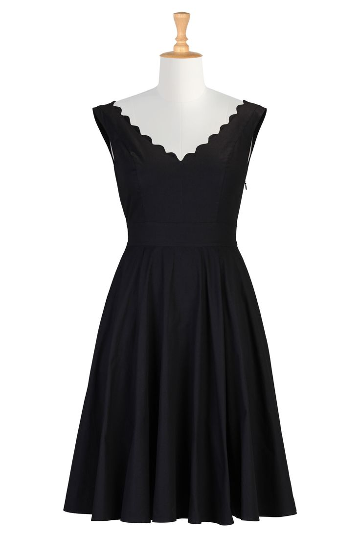 Virginia Dress - Cotton poplin is shaped into our scallop trimmed dress styled with a wide V-neckline, princess seamed bodice, banded high waist and full circle skirt for a flattering silhouette. Plus size up to a size 36! $74.95 though, but it so classic and pretty, they also have this one in blue. USE CODE CASE48AS TO GET 40 DOLLARS OFF!