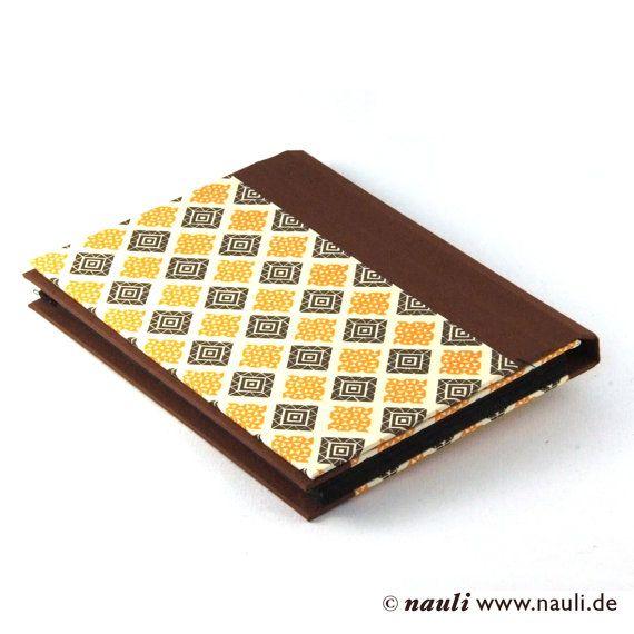 accordion folder memo pocket brown orange check u20ac3000 via etsy - Accordion Folder
