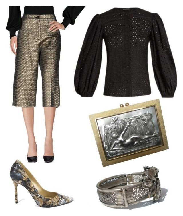"""""""Nouveau"""" by amory-eyre ❤ liked on Polyvore featuring Stuart Weitzman, Garage Nouveau and Anna October"""