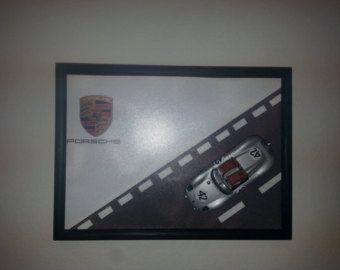 Wooden frame with Porsche 718 RS 802 Spyder, 1959 - Edit Listing - Etsy