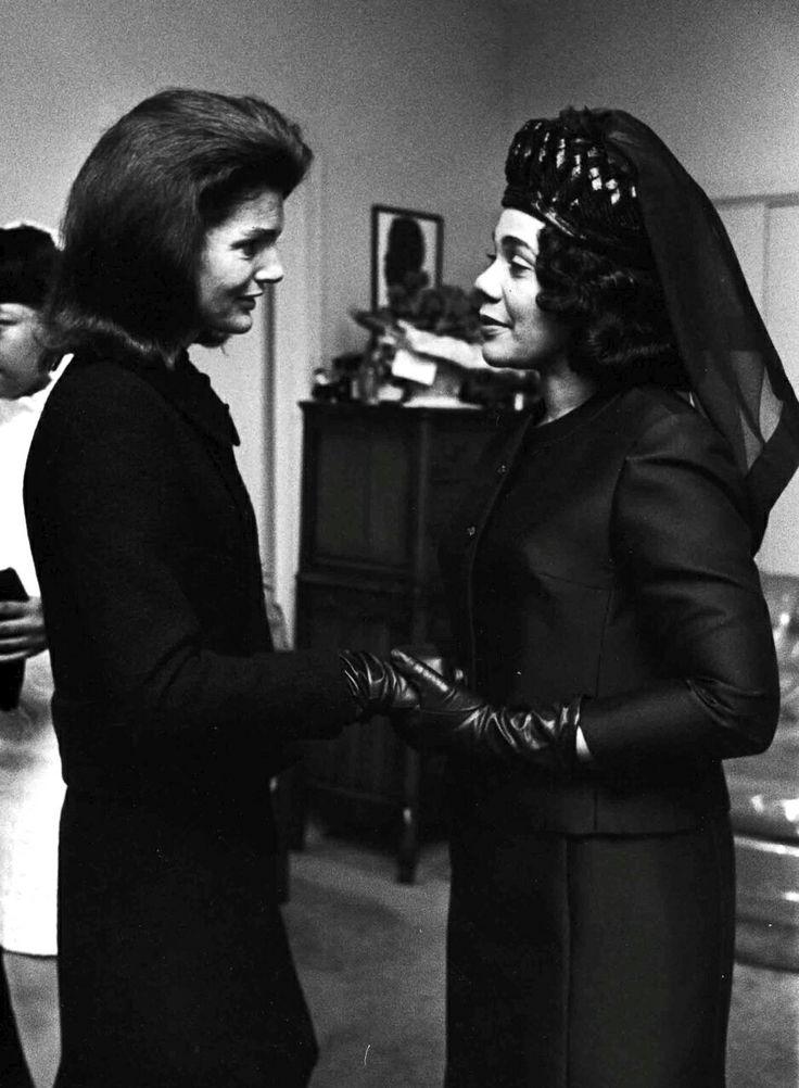 Coretta Scott King and Jackie Kennedy