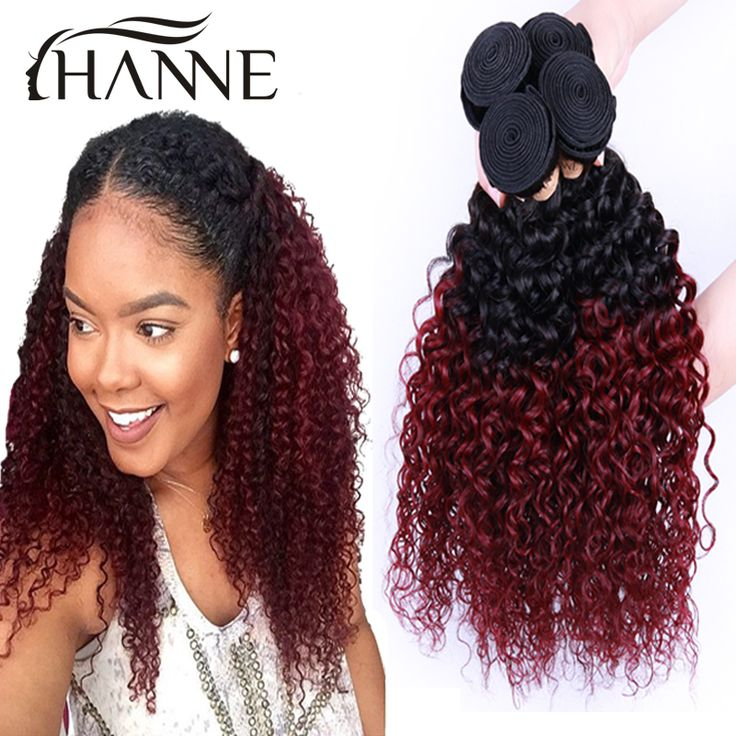 Cheap hair weave wig, Buy Quality weave cheap directly from China hair  weave brazilian Suppliers: Malaysian ombre curly hair dark root burgundy  end 2 tone ...