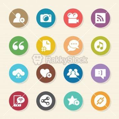 Blog Icons - Color Circle Series