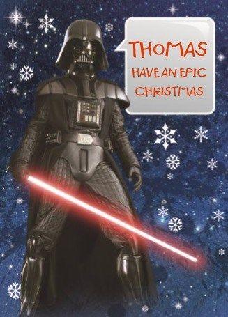Gepersonaliseerde Star Wars kerstkaart, de leukste verrassing tijdens de kerst.  #Hallmark #HallmarkNL #Star #Wars #starwars #wenskaart
