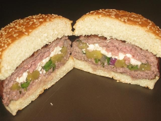 Stuffed-Hawaiian-Burger- made with the burger pocket press