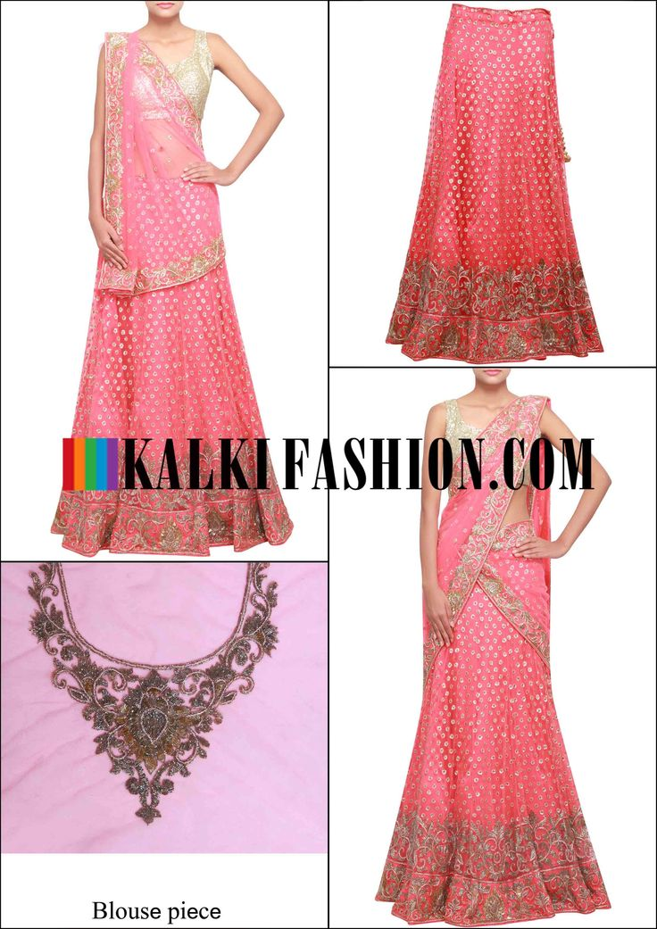Get this beautiful lehenga here: http://www.kalkifashion.com/saree-gown-in-cream-embellished-in-sequence-and-zari-only-on-kalki.html Free shipping worldwide.