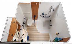 Cabine de douche adaptée pour handicapé.  Salle de bain complète conforme à la législation et certifiées APAVE.
