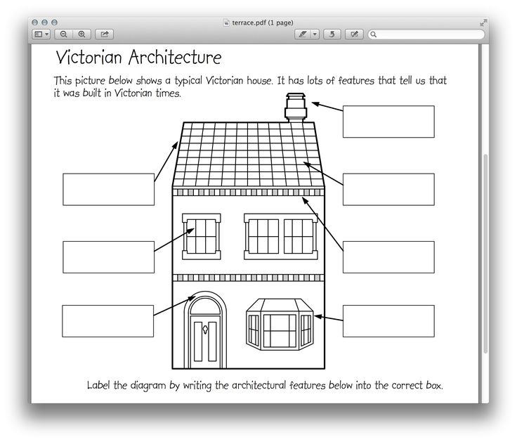 Victorian Architecture Worksheet : Victorian Age for Kids ...