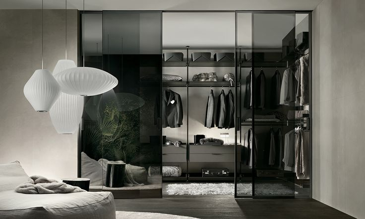 Rimadesio - Zenit, cabina armadio in alluminio e vetro - walk-in_closet - Rimadesio | ♥
