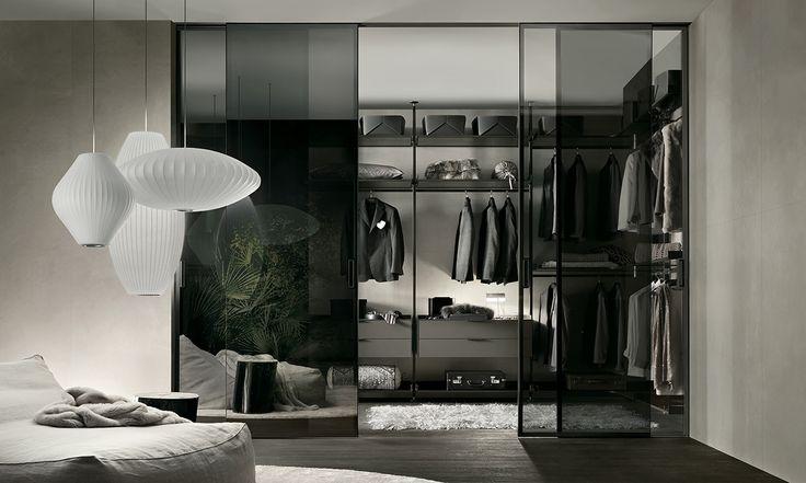 Rimadesio - Zenit, cabina armadio in alluminio e vetro - walk-in_closet - Rimadesio   ♥