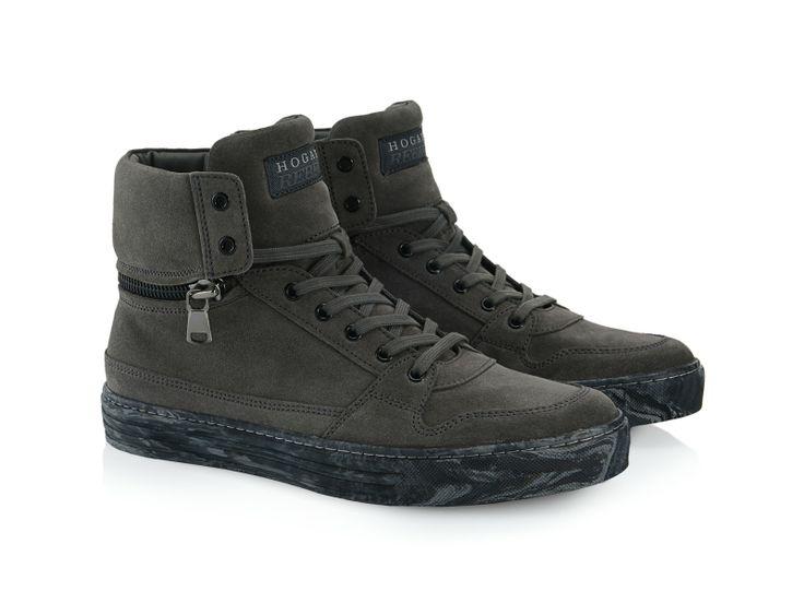Hogan Rebel R206 dark grey Suede high-top sneakers