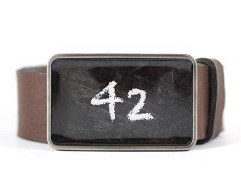 42 Belt Buckle, The Answer belt buckle, men's belt buckle, gift for him