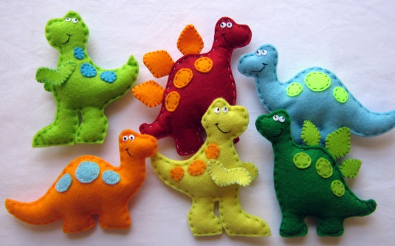 Dinosars... Roarrr! These are from an Etsy shop. If I can't make them myself, I may just have to buy them!