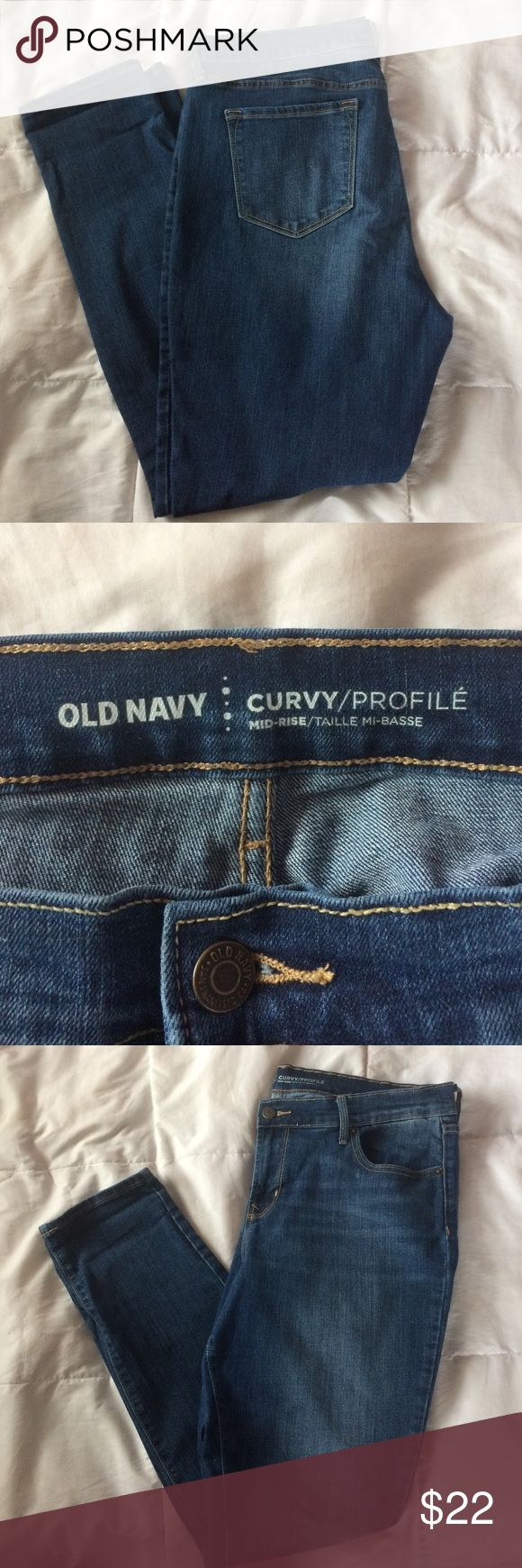 old navy curvy jeans old navy curvy mid-rise jeans, only worn a few times Old Navy Jeans Skinny