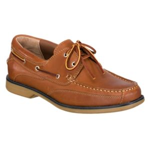 World Wide Sportsman Anchor II Boat Shoes for Men - Red Brown - 10.5W